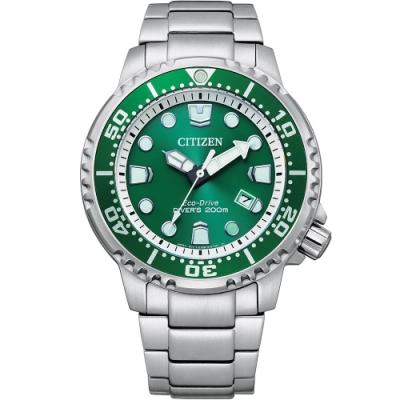 CITIZEN PROMASTER 綠水鬼200米光動能潛水錶(BN0158-85X)44mm