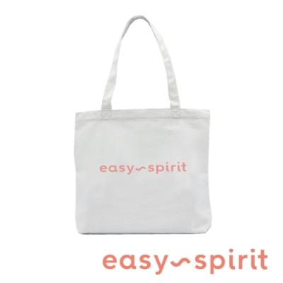 Easy Spirit  輕便時尚 素面品牌LOGO小托特包提袋-白色