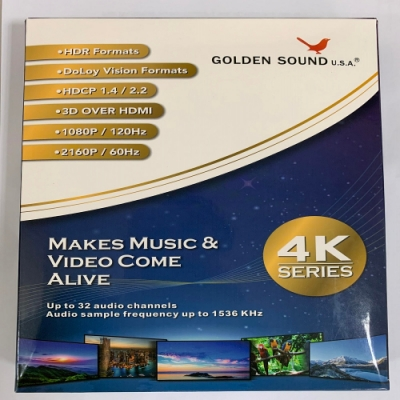 GOLDEN SOUND 高品質3D HDMI線 1.5M 對應4K 2160P/60Hz