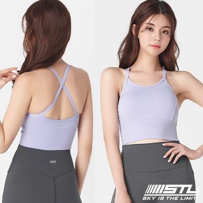 韓國 STL yoga Bra Crop Top BASE 運動機能內衣/短版背心(含專利胸墊)高度支撐 甜美紫SweetPurple
