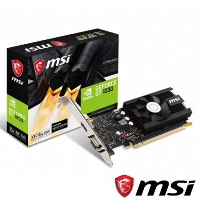 MSI微星 GeForce GT 1030 2G LP OCV2 顯示卡