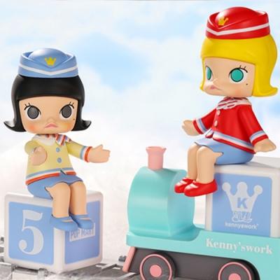 Molly 茉莉女孩 開心小火車大派對系列公仔盒玩(盒裝12入)
