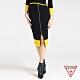 GUESS-女裝-配色拉鍊針織窄裙-黑 原價2290 product thumbnail 1