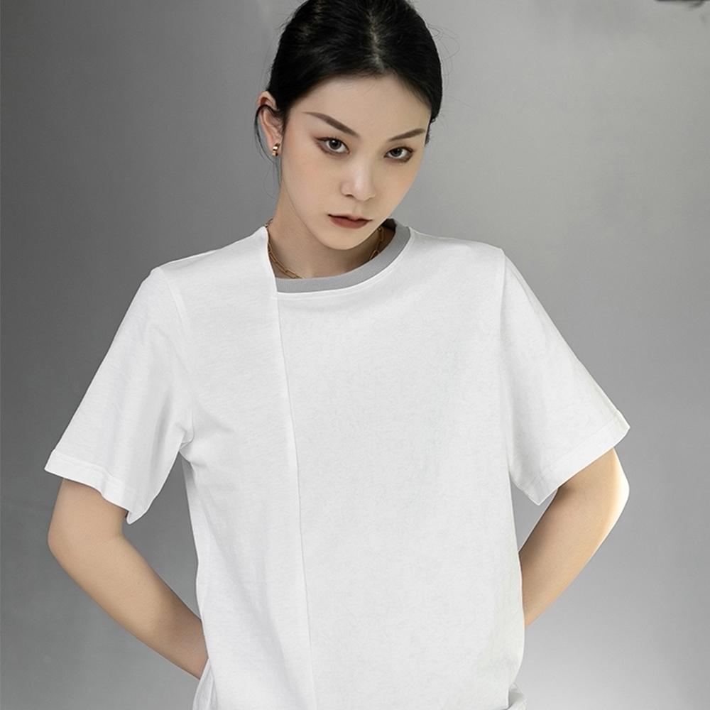 設計所在Style-不規則扎染拼色寬鬆韓版短袖T恤