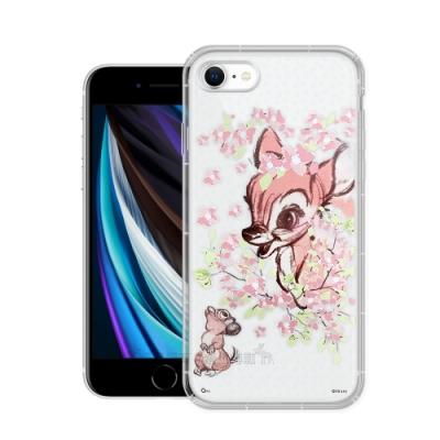 迪士尼授權 櫻花系列 iPhone SE 2020/SE2 空壓防護手機殼(小鹿斑比)