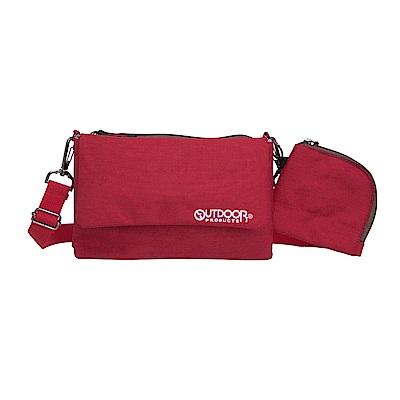 輕旅遊系列-側背包+零錢包-紅 ODS17F02RD