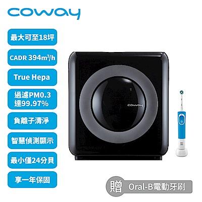 Coway 14-18坪 旗艦環禦型空氣清淨機 AP-1512HH 送電動牙刷+24cm不沾湯鍋