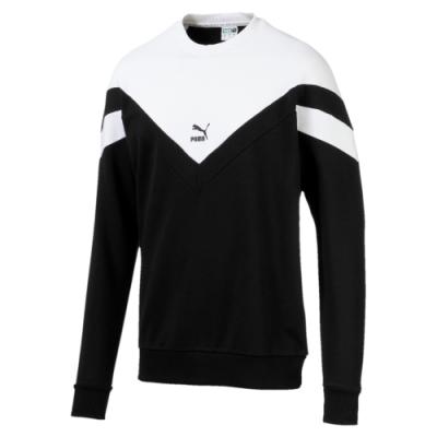 PUMA-男性流行系列MCS圓領衫-黑色-歐規