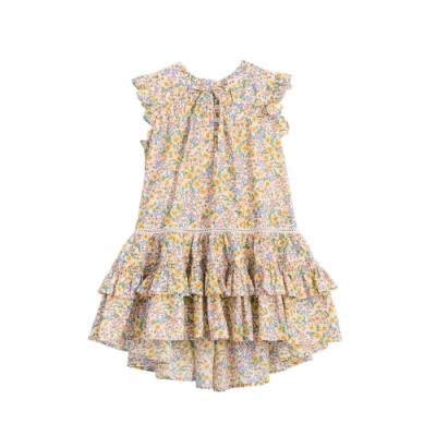 小雛菊 MARGUERITE 黃色碎花洋裝 (90cm~120cm)