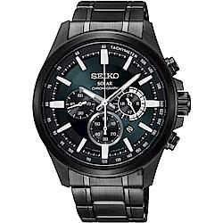 SEIKO精工 Criteria 台灣限定太陽能計時碼錶(SSC691P1)-42mm