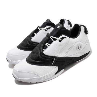 Reebok 籃球鞋 Answer V Low 運動 男鞋 明星款 復刻 避震 包覆 球鞋 皮革 白 黑 EF7601