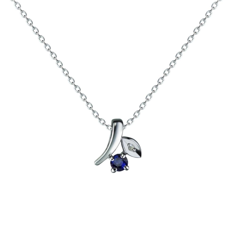 amoon 法式浪漫艾菲爾系列 清純 K金鑽石墜子 送18K金純銀項鍊