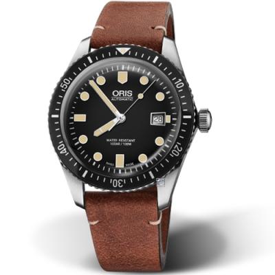 Oris豪利時Divers系列Sixty-Five潛水機械腕錶-42mm/黑色