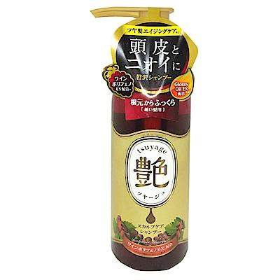 日本Graphico 頭皮修護艷髮洗髮精-葡萄香氛味(粗髮硬質專用)400ml