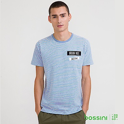 bossini男裝-圓領短袖T恤13藍