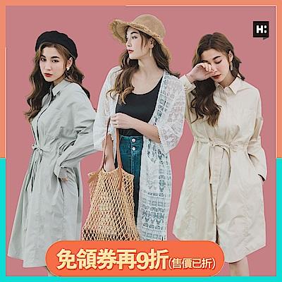 [時時樂限定]H:CONNECT 韓國品牌 女裝 -韓系襯衫洋裝/罩衫-多款