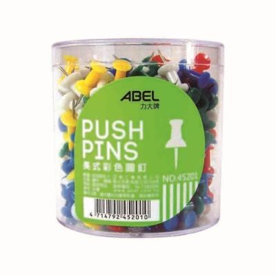 【ABEL】事務圓筒 美式彩色圖釘300入