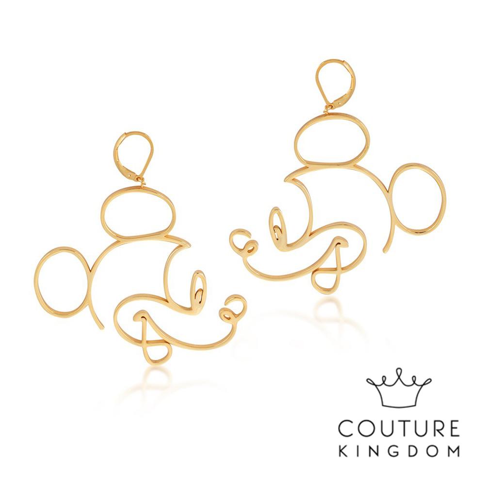 Disney Jewellery by Couture Kingdom 米奇鏤空線條金耳環