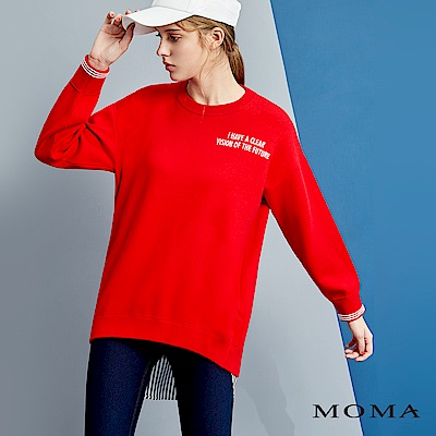 MOMA 假兩件長版拼接衛衣