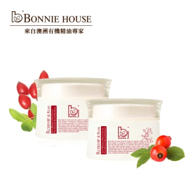 Bonnie House 玫瑰果防皺淡斑精華日霜30ml+晚霜30ml