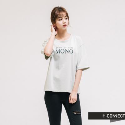 H:CONNECT 韓國品牌 女裝 - 簡約文字T-shirt-綠
