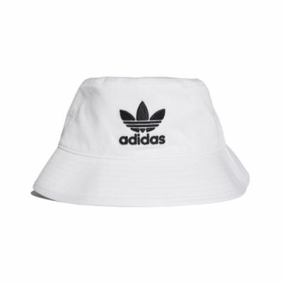 adidas 漁夫帽 Trefoil Bucket Hat 男女款 愛迪達 三葉草 穿搭 刺繡logo 白 黑 BK7350