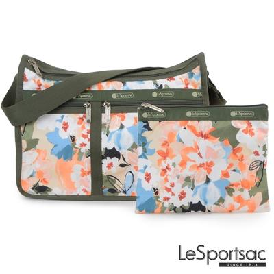 LeSportsac - Standard雙口袋A4大書包-附化妝包 (綻放藝彩)