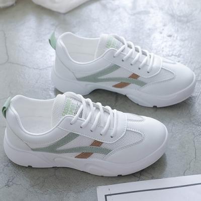 韓國KW美鞋館-(預購)嬌豔動人老爺鞋運動鞋(彈力 輕量  耐磨 休閒鞋)(共2色)