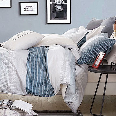 La lune 100%台灣製40支寬幅精梳純棉雙人特大床包組 渡月橋