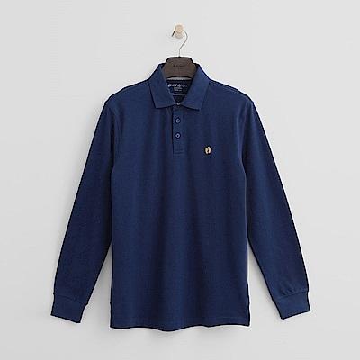 Hang Ten - 男裝 - 經典純色POLO衫-藍色