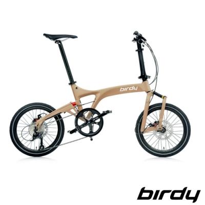 Birdy New BirdyⅢ Standard Disc 9SP 9速碟煞前後避震折疊車-消光卡其棕