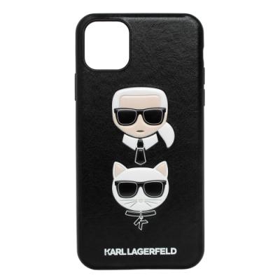 KARL LAGERFELD Q版老佛爺貓咪IKONIK皮革I Phone 11 Pro MAX手機殼