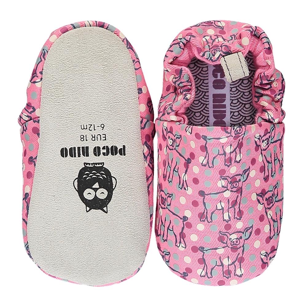 英國 POCONIDO 手工嬰兒鞋 (小豬寶寶 - 甜心粉)