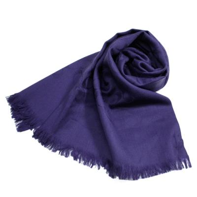 COACH   新織法C LOGO 蠶絲羊毛圍巾/披肩(紫色)