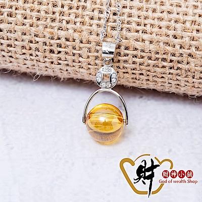 財神小舖  財源滾滾  925純銀項鍊-開運黃 (含開光) MS-5008