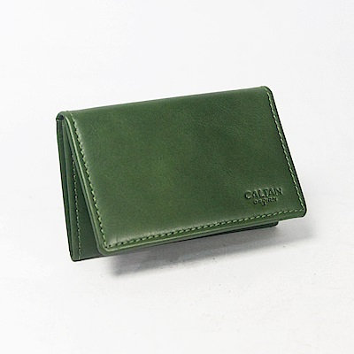 CALTAN-橫式名片夾 卡片夾 真皮小物 牛皮 上翻式皮件-1801cd-g