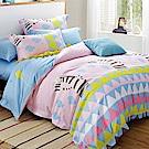 Betrise彩夜斑馬  雙人-3M專利天絲吸濕排汗四件式兩用被床包組