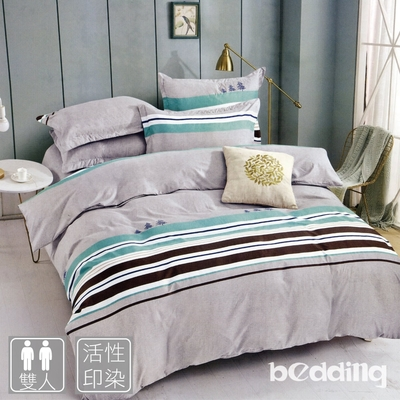 BEDDING-活性印染枕套床包三件組-多款任選(雙人)
