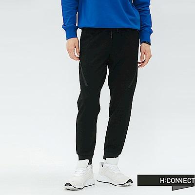 H:CONNECT 韓國品牌 男裝-鬆緊設計束口褲-黑