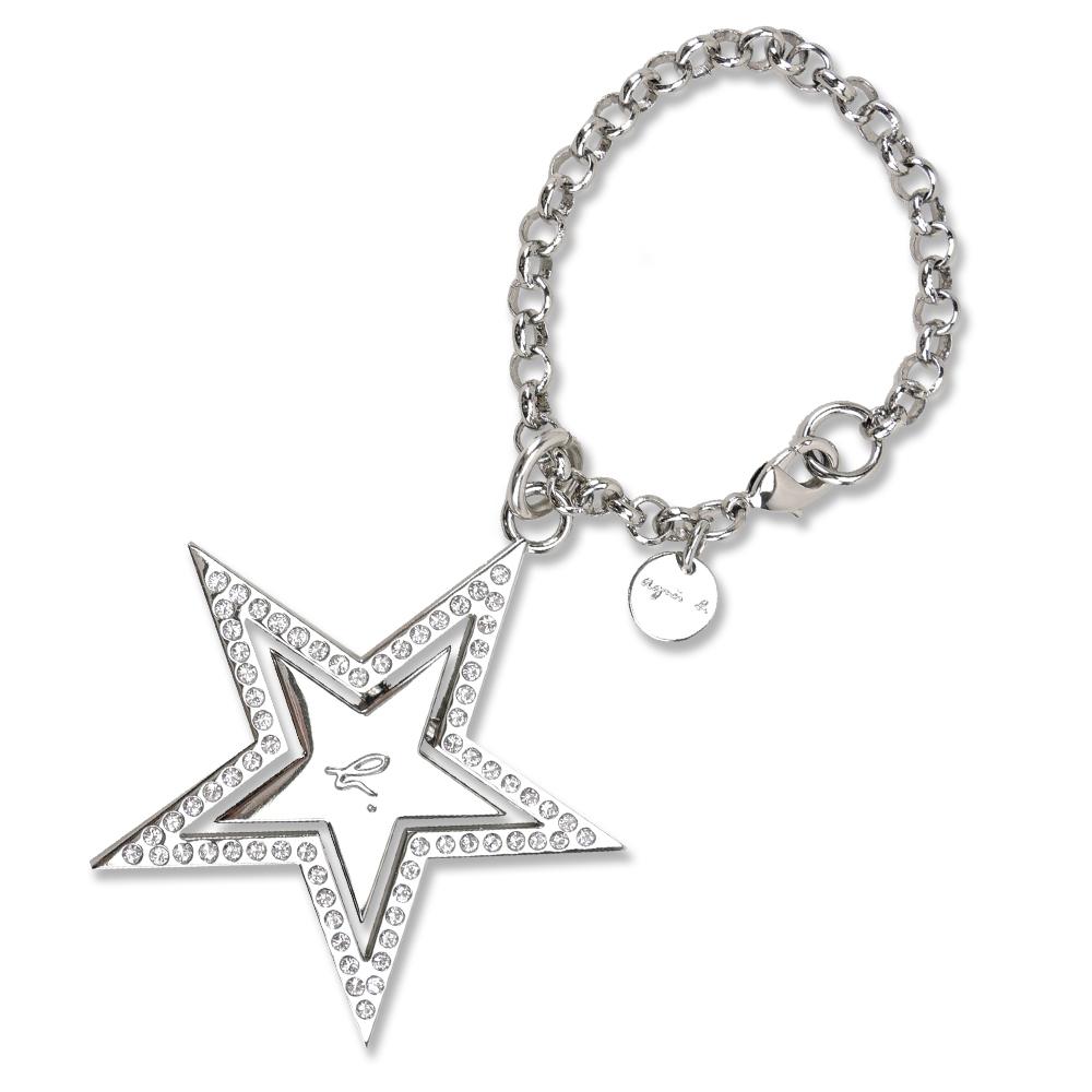 agnes b. 星星/愛心鑲鑽吊飾(任選)