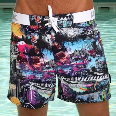 WAXX趣味都市遊高質感吸濕排汗男海灘褲