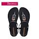 Ipanema CLASS LIFE 方型琥珀裝飾T字涼鞋-黑 product thumbnail 1