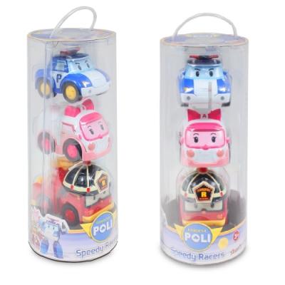 救援小英雄 POLI - 波力摩輪車組 內含波力 安寶 羅伊 非迴力車