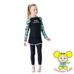 夏之戀 LOVETEEN KIDS女童衝浪裝二件式泳衣