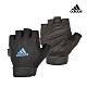 Adidas Training可調式透氣短指訓練手套(藍) product thumbnail 2