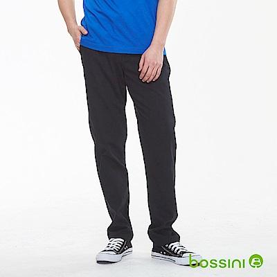 bossini男裝-輕鬆長褲01黑