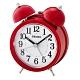 SEIKO 精工 響鈴聲 滑動式秒針 貪睡鬧鐘(QHK035R)-紅/11.1X8.4cm product thumbnail 1