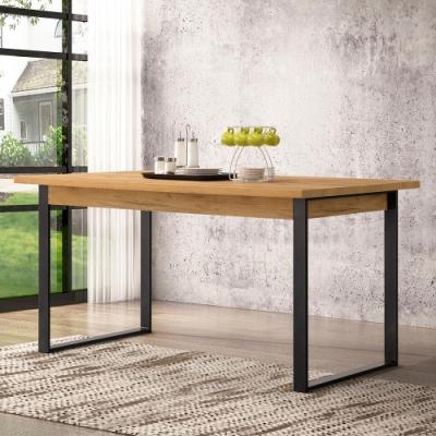工業風 5尺餐桌/寬152.4*深90*高78公分/DIY自行組合產品(不含椅)黃金橡木色