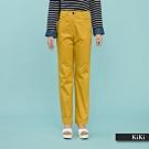 【KiKi】修身小直筒素色-長褲(二色)