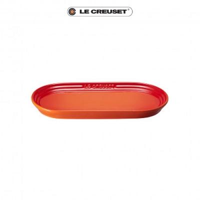 LE CREUSET瓷器日式橢圓盤25cm(火焰橘)